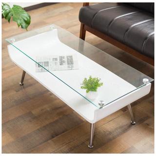 システムK 曲げ木センターテーブル ガラステーブル ローテーブル 強化ガラス天板(ローテーブル)