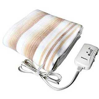 電気掛敷毛布 掛敷毛布 洗える 190x130cm 室温センサー付 冬 (電気毛布)