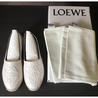 LOEWE - 新品◆ LOEWE ロエベ サイズ38 レザー エスパドリーユ