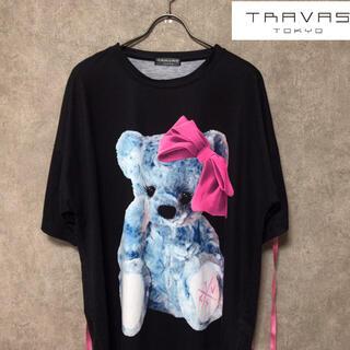 MILKBOY - TRAVAS TOKYO トラヴァストーキョー  リボン クマ ビッグTシャツ