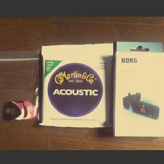 ギター セット ピッグ 弦 チューナー(アコースティックギター)