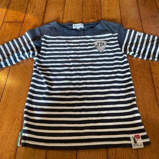 パーリーゲイツ(PEARLY GATES)のジャックバニー 150 七分袖 ボーダーボートネックTシャツ(Tシャツ/カットソー)