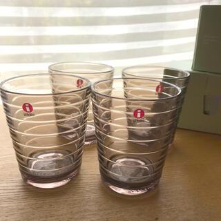 イッタラ(iittala)のイッタラ アアルトタンブラーリネン×4(グラス/カップ)
