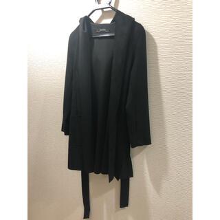 ザラ(ZARA)のZARA ザラ フード付き コート ガウン カーディガン ブラック 黒(カーディガン)