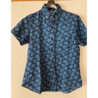 HOLLYWOOD RANCH MARKET - HRM ボタンダウン半袖 デザインシャツ サイズ1