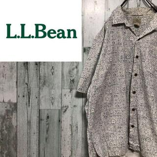 エルエルビーン(L.L.Bean)のエルエルビーン LL bean コットン半袖シャツ ビッグサイズ 総柄(シャツ)