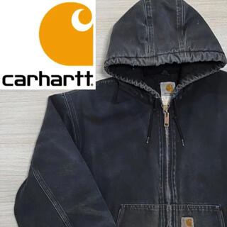 カーハート(carhartt)のカーハート アクティブジャケット ブラック(carhartt ダック地)(カバーオール)