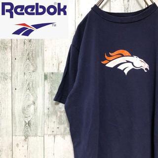 リーボック(Reebok)のリーボック 半袖 Tシャツ ビッグプリント ネイビー コットン Reebok(Tシャツ/カットソー(半袖/袖なし))