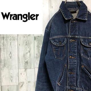ラングラー(Wrangler)のラングラーデニムジャケットGジャンダブルフラップポケット色落ち色褪せ(Gジャン/デニムジャケット)
