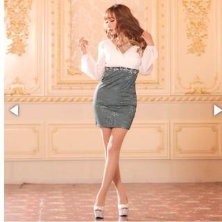 dazzy store - シフォン透けクラシカルタイトミニドレス