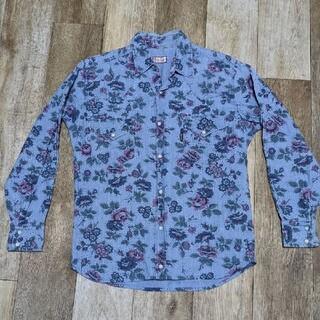 ハリウッドランチマーケット(HOLLYWOOD RANCH MARKET)の定価17600円◇BLUE BLUE ブルーブルー◇花柄デザインシャツ◇2(シャツ)