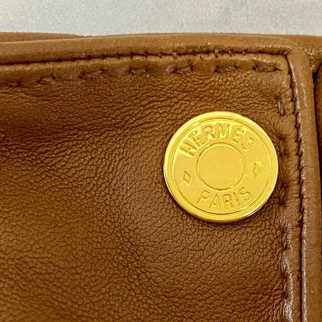 Hermes(エルメス)のHERMES エルメス レザー グローブ 手袋 セリエ キャメル レディースのファッション小物(手袋)の商品写真