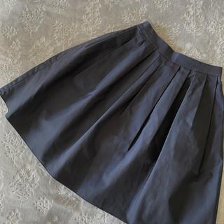 エムプルミエ(M-premier)のエムプルミエ フレアスカート 紺 ネイビー 34(ひざ丈スカート)