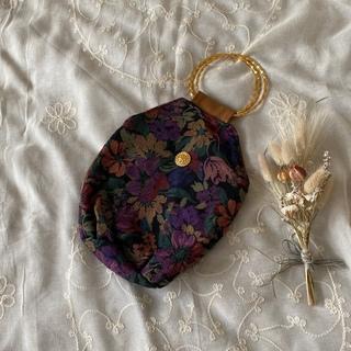 グリモワール(Grimoire)のvintageレトロ古着柄ゴブラン刺繍ハンドバッグ(ハンドバッグ)