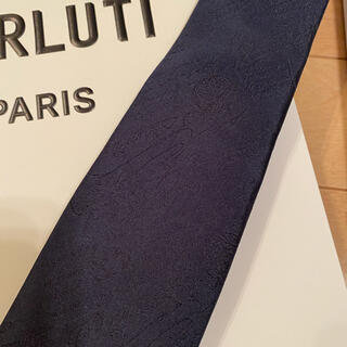 ベルルッティ(Berluti)の新品未使用 BERLUTI ベルルッティ ネクタイ ネイビー 紺(ネクタイ)