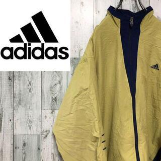 アディダス90s ジップアップジャケット ワンポイント刺繍ロゴ ビッグサイズ