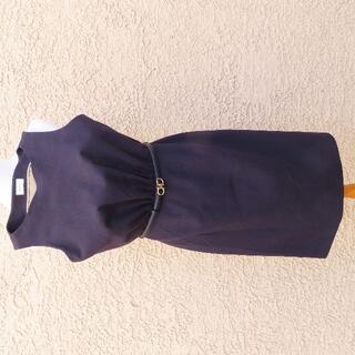 サルヴァトーレフェラガモ(Salvatore Ferragamo)のフェラガモ ノースリーブ ストレッチウールブレンドドレス ワンピース(ひざ丈ワンピース)