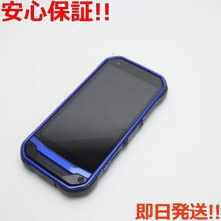 キョウセラ(京セラ)の美品 au TORQUE G03 ブルー 白ロム(スマートフォン本体)