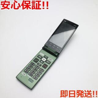 キョウセラ(京セラ)の 保証超美品 au KYF36 かんたんケータイ グリーン 白ロム(携帯電話本体)