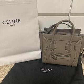 celine - セリーヌ ラゲージ CELINE ナノ スリ ショルダーバッグ 極美品