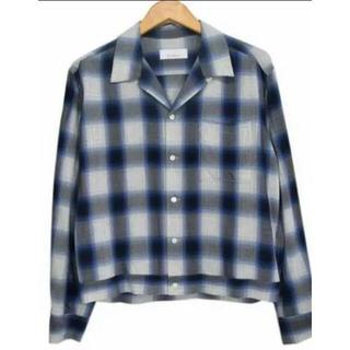 フィーニー(PHEENY)のpheeny♡オンブレチェックシャツ♡オープンカラー(シャツ/ブラウス(長袖/七分))