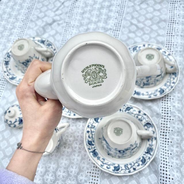 NIKKO(ニッコー)のNIKKO ダブルフェニックス ティーセット カップ&ソーサー インテリア/住まい/日用品のキッチン/食器(食器)の商品写真