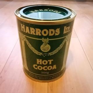 ハロッズ(Harrods)の【中古・缶のみ】HARRODS hot cocoa の缶(中身はありません)(収納/キッチン雑貨)