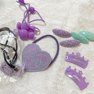 クレアーズ(claire's)のヘアゴム purpleセット(ファッション雑貨)