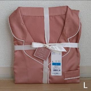 GU - GU サテンパジャマ L ピンク