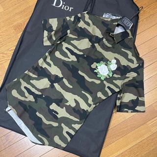 DIOR HOMME - 定価12万ディオールオムdiorhomme白薔薇刺繍半袖シャツ37迷彩