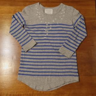 ゴートゥーハリウッド(GO TO HOLLYWOOD)のゴートゥーハリウッド 150cm 星刺繍 ボーダーロングTシャツ(Tシャツ/カットソー)