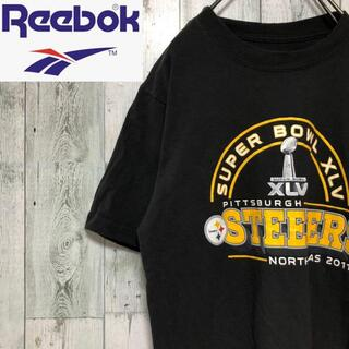 リーボック(Reebok)のリーボック STEELERS 半袖T プリントロゴTシャツ コットン ブラック(Tシャツ/カットソー(半袖/袖なし))