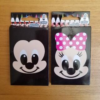 ディズニー(Disney)のミッキー ミニー 色鉛筆 2箱セット(色鉛筆)