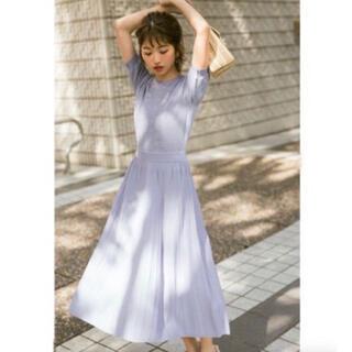 PROPORTION BODY DRESSING - ♥︎プロポーション♥︎ アイレットシアープリーツニットワンピース