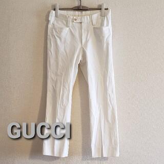 グッチ(Gucci)のGUCCIグッチ コットンパンツ ホワイトsize46(デニム/ジーンズ)