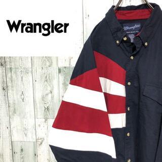 ラングラー(Wrangler)のラングラー BD切替コットンウエスタンシャツ ビッグサイズ 長袖 ネイビー(シャツ)