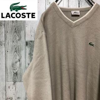 ラコステ(LACOSTE)のラコステスポーツ アクリルコットンニット ワンポイント刺繍ロゴ オフホワイト(ニット/セーター)