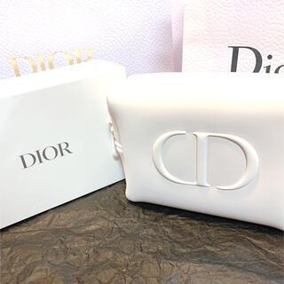 ディオール(Dior)のディオールノベルティ ふわふわ ホワイトポーチ 箱無し(ポーチ)