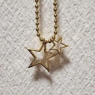 マウジー(moussy)のmoussyネックレス星スターシルバー925ゴールド(ネックレス)
