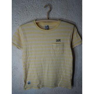 CHUMS - o2410 CHUMS レディース うっすら ボーダー デザイン tシャツ