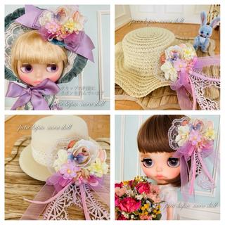 蝶々と花の髪飾り 9番(クリップとピン両方ついてます(人形)