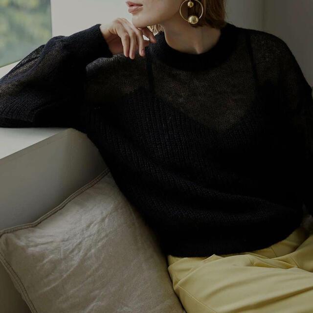 Ameri VINTAGE(アメリヴィンテージ)のBUSTIER PATTERN KNIT SET レディースのトップス(ニット/セーター)の商品写真
