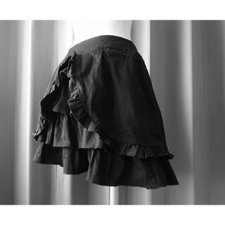 ビーピーエヌ(BPN)の送料込 匿名配送 BPN バッスルスカート black peace now(ひざ丈スカート)