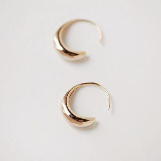 ドゥーズィエムクラス(DEUXIEME CLASSE)のdrop hoop pierce ◯18k coating(ピアス)