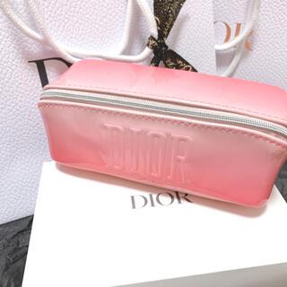 ディオール(Dior)のディオール ノベルティポーチ スターチャーム エナメル ピンク ペンケース(ポーチ)