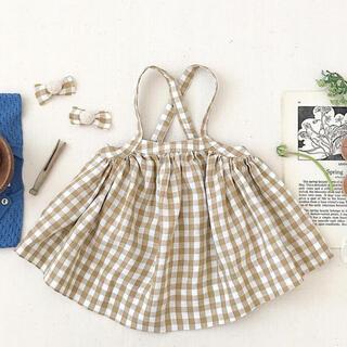 Caramel baby&child  - soor ploom ギンガムチェックスカート 8Y