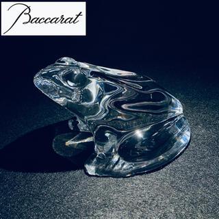 バカラ(Baccarat)のバカラ ペーパーウエイト カエル(置物)