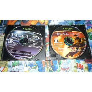 エックスボックス(Xbox)の【XBOX】HALO、HALO2 2本セット(家庭用ゲームソフト)