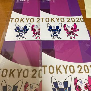 メイジ(明治)の下敷き 明治の東京オリンピック4枚セット(ノベルティグッズ)