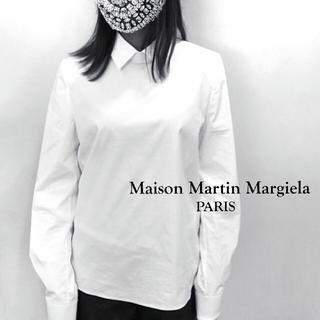 マルタンマルジェラ(Maison Martin Margiela)のメゾン マルタン マルジェラ ホワイト コットン シャツ ブラウス(シャツ/ブラウス(長袖/七分))